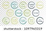 vector organic labels  eco... | Shutterstock .eps vector #1097965319