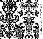 Damask wallpaper - stock photo