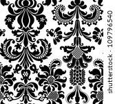 damask wallpaper   Shutterstock . vector #109796540