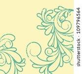 Vector illustration of swirl pattern - stock photo