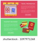 travel preparation internet... | Shutterstock .eps vector #1097971268