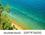 beach and adriatic sea at... | Shutterstock . vector #1097976050