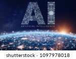 artificial intelligence... | Shutterstock . vector #1097978018