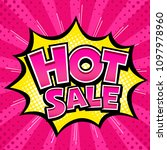 vector hot sale banner pink... | Shutterstock .eps vector #1097978960