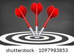 dart target. success business... | Shutterstock .eps vector #1097983853