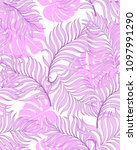 print  exotic tropical vector... | Shutterstock .eps vector #1097991290