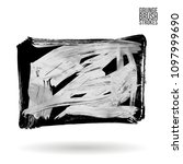 grey  brush stroke and texture. ...   Shutterstock .eps vector #1097999690