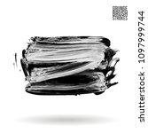 grey  brush stroke and texture. ... | Shutterstock .eps vector #1097999744
