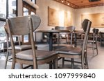 modern interior of coffee shop... | Shutterstock . vector #1097999840