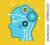 brain artificial intelligence... | Shutterstock .eps vector #1098001214