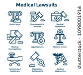 medical lawsuits with... | Shutterstock .eps vector #1098001916