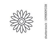 sun flower line icon concept.... | Shutterstock .eps vector #1098009338