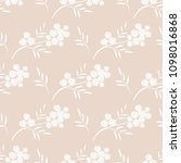 seamless pattern with flowering ... | Shutterstock .eps vector #1098016868
