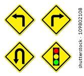 4 warning sign on white... | Shutterstock . vector #109802108