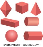 basic 3d geometric shapes... | Shutterstock .eps vector #1098022694