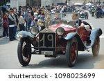 lancia in 1000 miles car race ... | Shutterstock . vector #1098023699