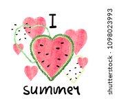 bright summer vector... | Shutterstock .eps vector #1098023993