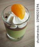 japanese dessert matcha green... | Shutterstock . vector #1098025196