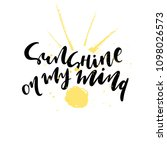 "hand written summer quote ""... | Shutterstock .eps vector #1098026573"