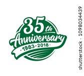 35 years anniversary design... | Shutterstock .eps vector #1098034439