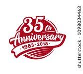 35 years anniversary design... | Shutterstock .eps vector #1098034463