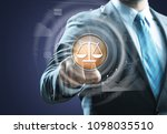 legal businessman touch legal... | Shutterstock . vector #1098035510