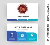 cacao  business card design... | Shutterstock .eps vector #1098036263