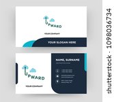 upward  business card design... | Shutterstock .eps vector #1098036734