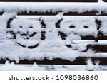 Two Funny Faces On Snow.