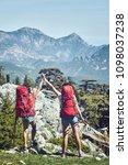 pedestrian tourism  people... | Shutterstock . vector #1098037238