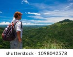 caucasian woman standing and... | Shutterstock . vector #1098042578