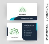 holistic  business card design... | Shutterstock .eps vector #1098042713