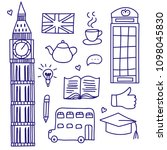 doodle england  hand drawn ... | Shutterstock .eps vector #1098045830