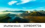the active volcano of mount... | Shutterstock . vector #1098049736