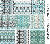 set of abstract woven marine ... | Shutterstock .eps vector #109805570