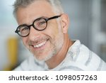 middle aged guy with trendy... | Shutterstock . vector #1098057263