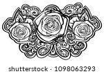 beautiful roses composition... | Shutterstock .eps vector #1098063293