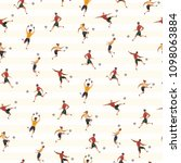 vector seamless pattern with... | Shutterstock .eps vector #1098063884