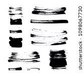set of artistic black brush... | Shutterstock . vector #1098067730