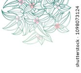 vector bouquet with outline... | Shutterstock .eps vector #1098073124