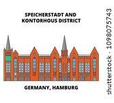 germany  hamburg  speicherstadt ... | Shutterstock .eps vector #1098075743