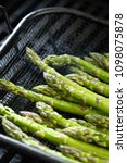 uncooked asparagus spears... | Shutterstock . vector #1098075878