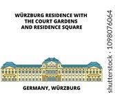 germany  wurzburg residence... | Shutterstock .eps vector #1098076064