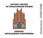 germany  mecklenburg vorpommern ... | Shutterstock .eps vector #1098076088