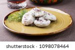 traditional russian salted... | Shutterstock . vector #1098078464