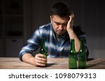 alcoholism  alcohol addiction... | Shutterstock . vector #1098079313