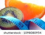 fruit for weight loss  meter  ...   Shutterstock . vector #1098080954
