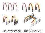 electronic jumper wire for... | Shutterstock .eps vector #1098082193