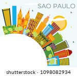 sao paulo brazil city skyline... | Shutterstock .eps vector #1098082934
