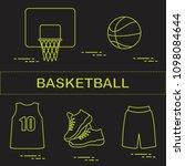 sports uniform and equipment... | Shutterstock .eps vector #1098084644